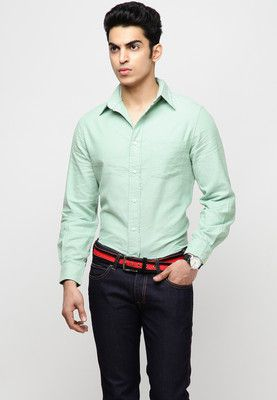 Light Green Formal Shirts Check out this green formal shirt from ...