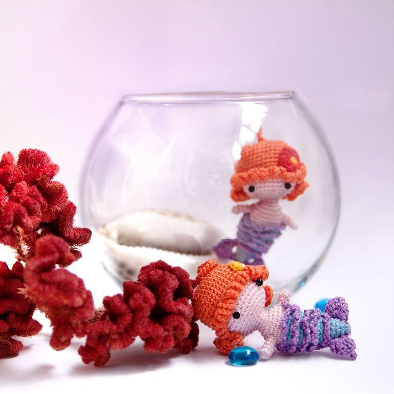 Mermaid. #amigurumipattern #mermaid #keychain #crochettoy #weamiguru ...