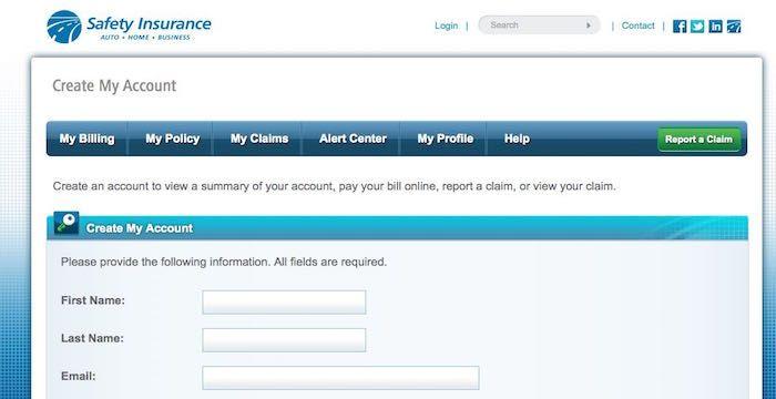 Safety Insurance Sign Up Register For Safetyinsurance Com