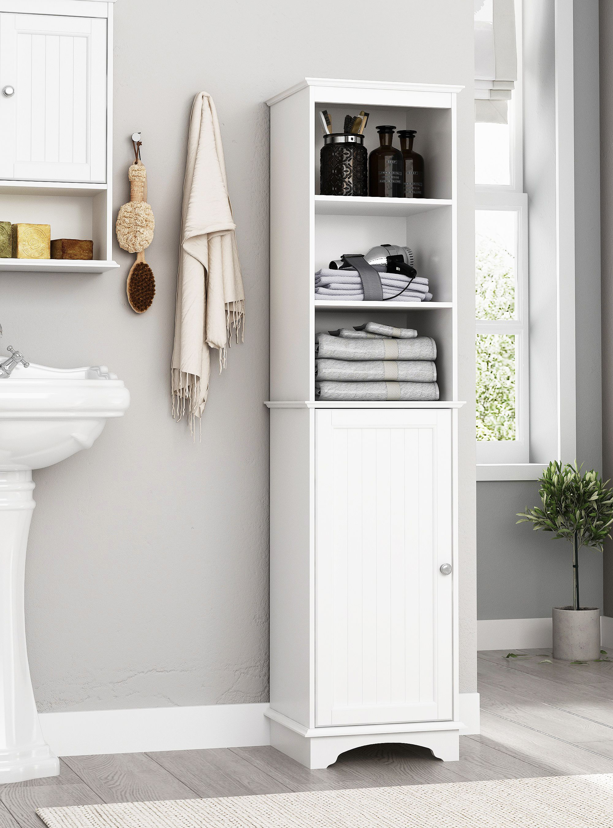 Free 2 Day Shipping Buy Spirich Home Freestanding Storage Cabinet With Three Tier Shelves Bathroom Freestanding Bathroom Storage Tower Tall Bathroom Storage [ 2700 x 2000 Pixel ]