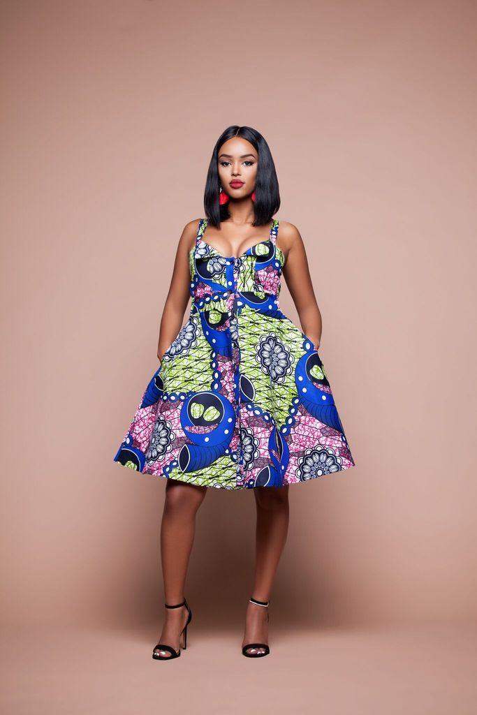 African Print Zesiro Midi Dress | staples...pins of a dream ...
