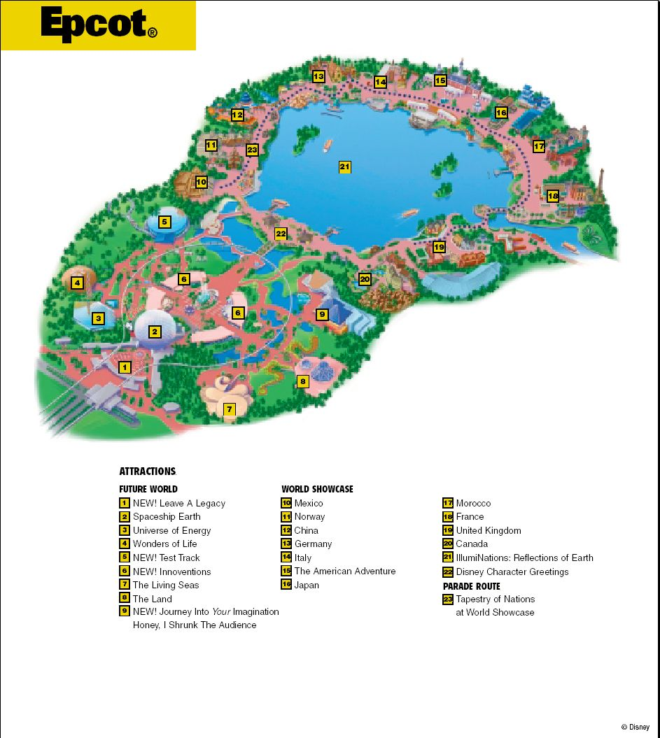 Epcot map the most magical place on earth pinterest epcot epcot map gumiabroncs Choice Image
