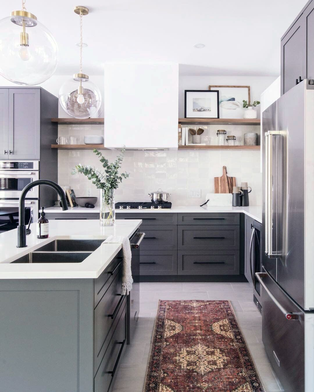 Shop The Look Loren Red Navy Runner Acadia Pizza Board Virginia Vase Grey Kitchen Designs Kitchen Design Interior Design Kitchen