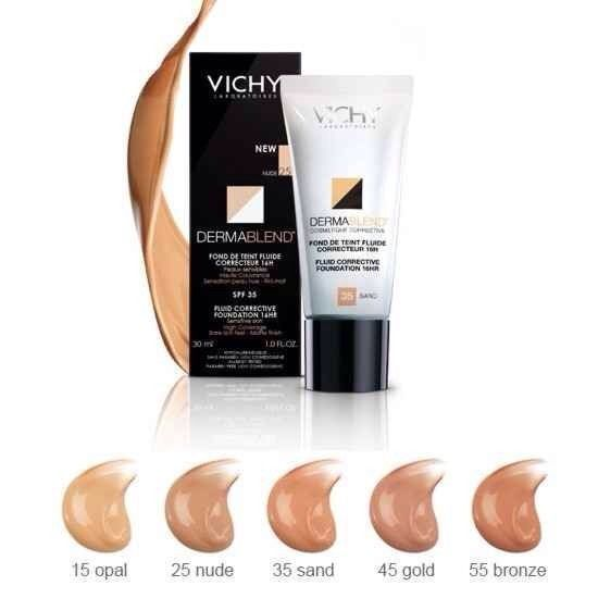 Vichy Dermablend Corrective Fluid Foundation 30ml Choose Your Shade Free Ship Ww Foundation For Sensitive Skin Vichy Dermablend