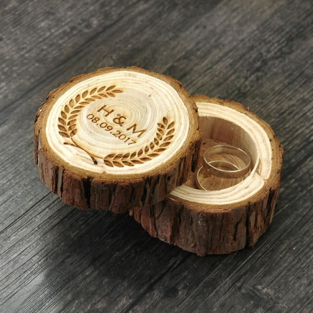 Engraved Wooden Jewelry Box In 2019 Urbanpronto Wooden Ring Box