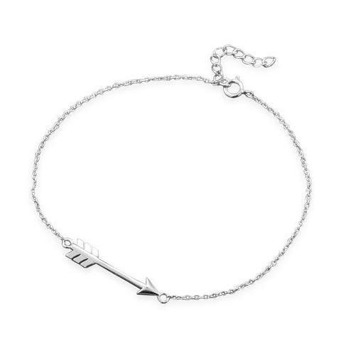 Sterling Silver Chain Bracelet with Arrow - Gift B