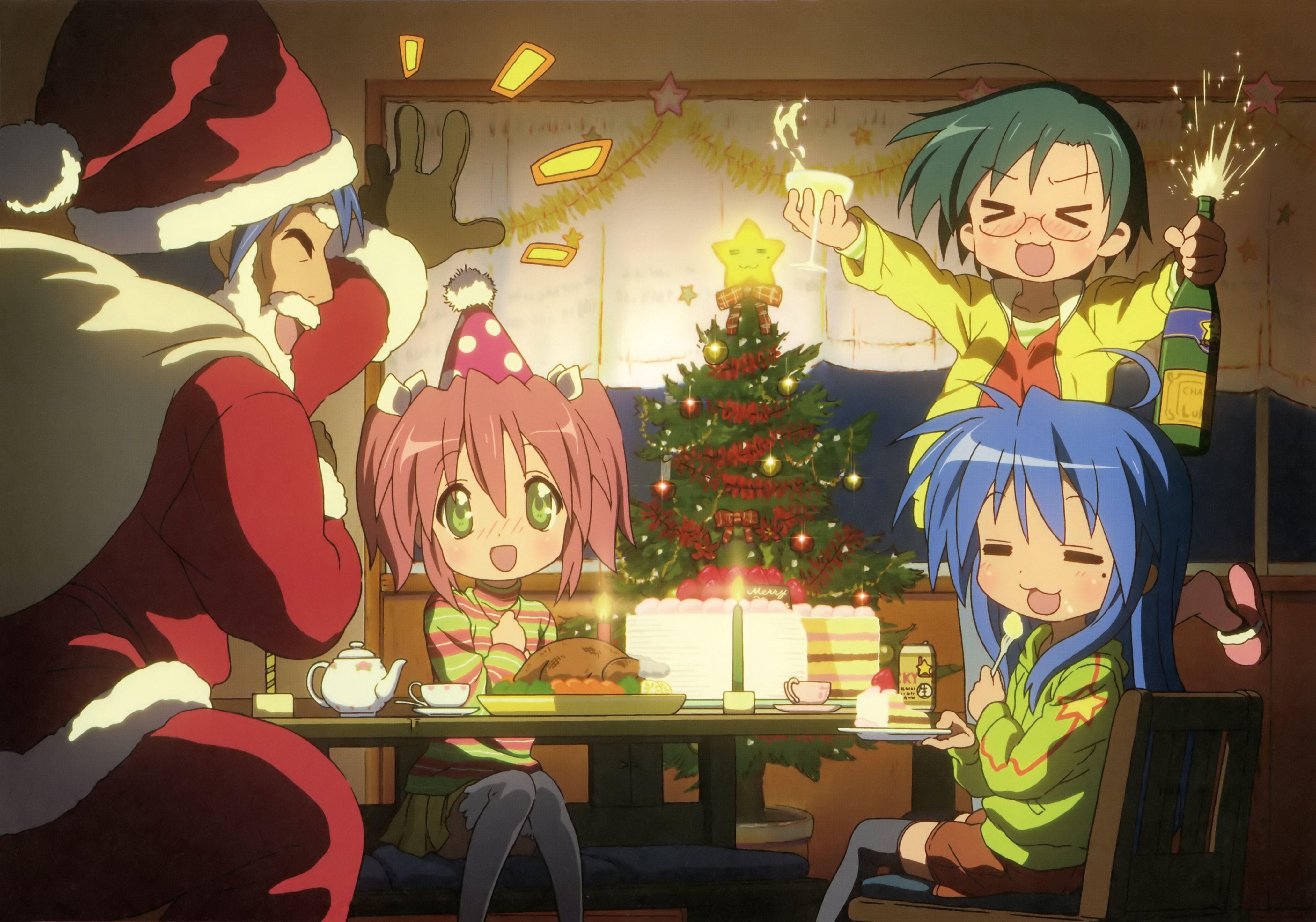 Anime Lucky Star Christmas Wallpaper Anime Christmas Anime Christmas Wallpaper Christmas Anime Wallpaper Cute anime christmas wallpaper