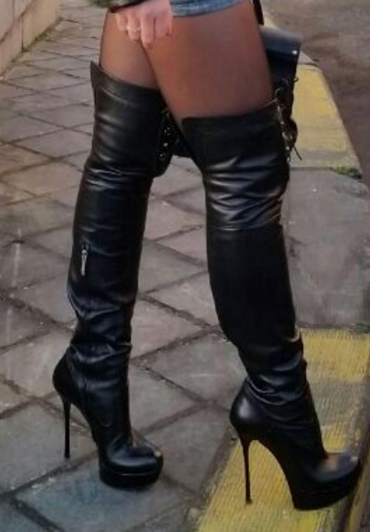 38++ Black high heel boots ideas info