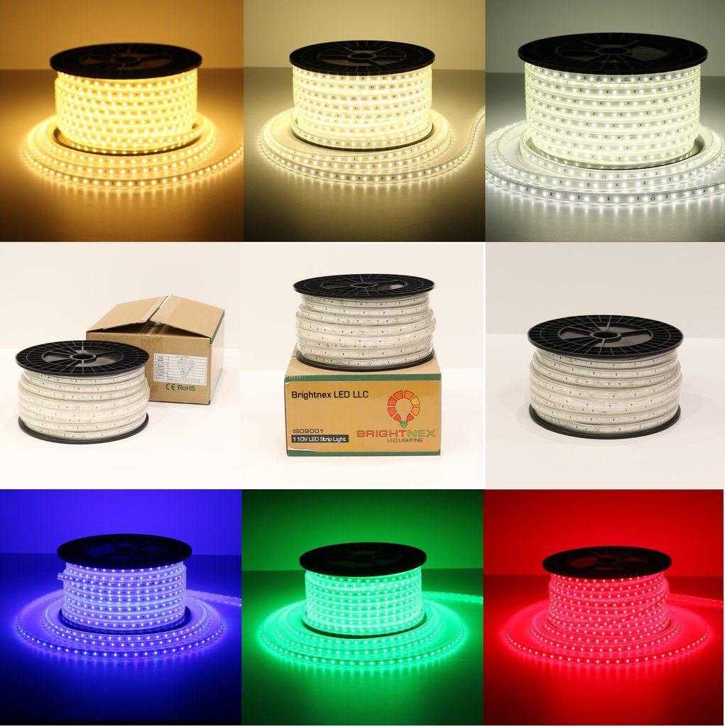 110v single color led strip light smd2835 easy connect