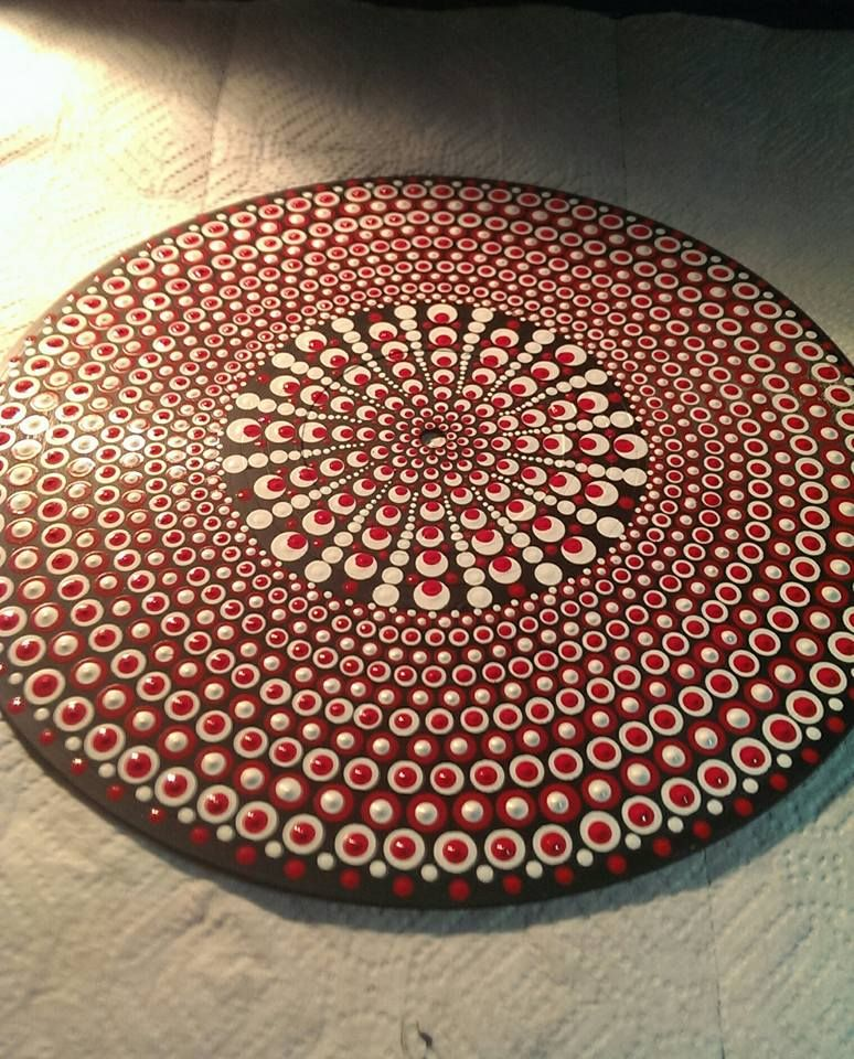 red and white Dot Mandala by Jenny Jones | Jennys Dot