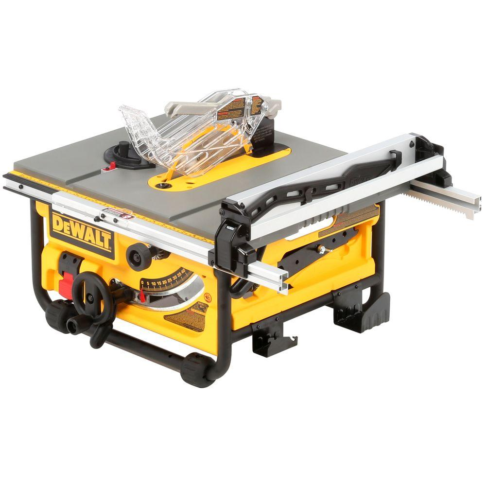 Dewalt 15 Amp Corded 10 In Compact Job Site Table Saw With Site Pro Modular Guarding System Dw745 The Home Depot Diy Table Saw Portable Table Saw Table Saw