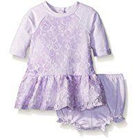 Pippa & Julie Baby Girls' Lace Sweatshirt Dress
