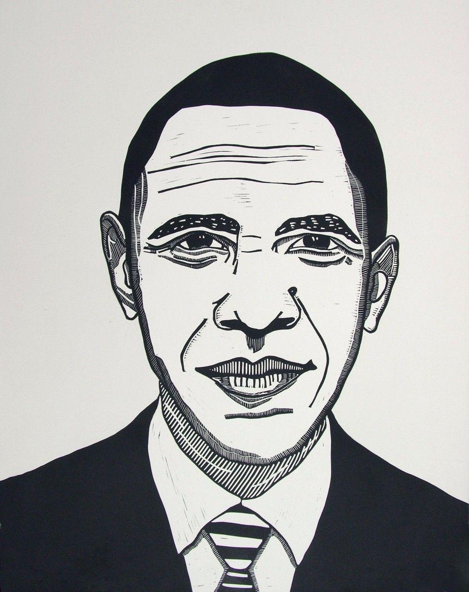 President Barack Obama // Valerie Wallace | arts | Pinterest