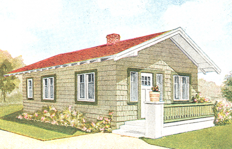 Best Craftsman Exterior Colors A Red Roof On A Pale Sage Green 640 x 480