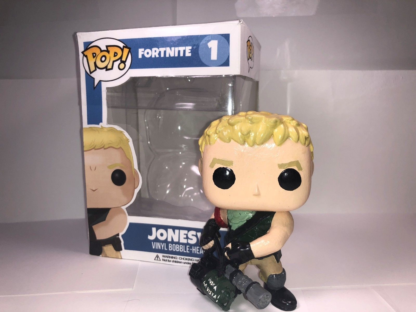Fortnite Jonesy Custom Pop Figure With Custom Box Custom Pop