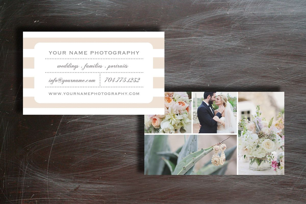Business Card Template - Business Cards - Wedding Photography ...