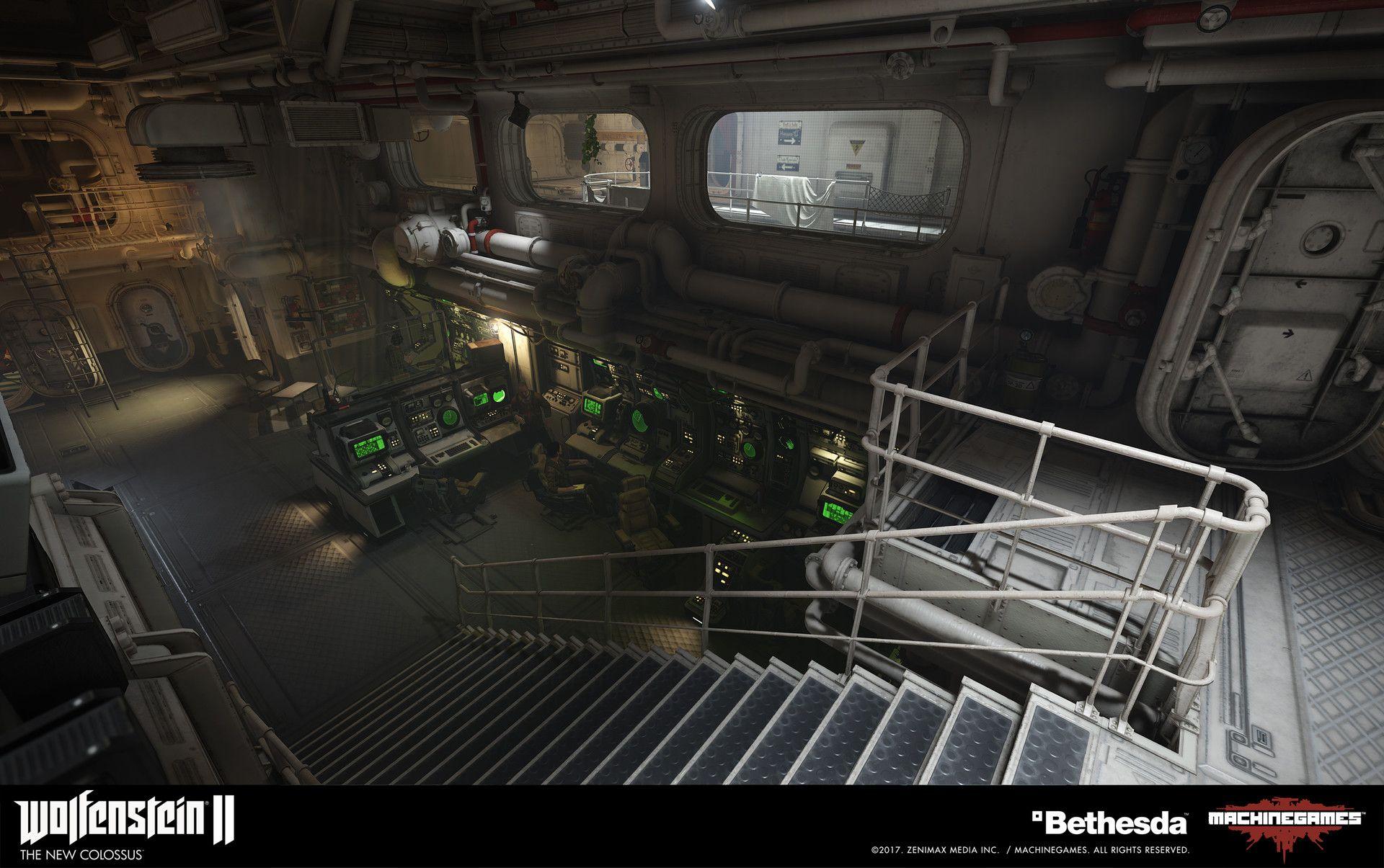 Artstation Helm Submarine Ayi Sanchez Submarine Sci Fi Environment Design