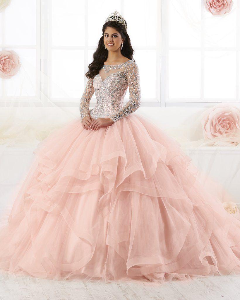 fa2e8e659659d Beaded Long Sleeved Quinceanera Dress by House of Wu 26904-House of Wu-ABC  Fashion