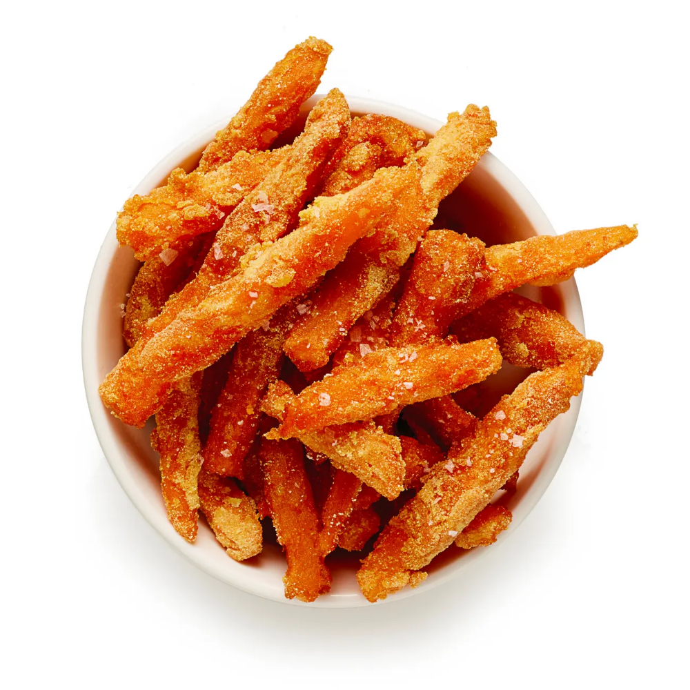 Felicity Cloake S Perfect Sweet Potato Fries Recipe Sweet Potato Recipes Fries Homemade Sweet Potato Fries Sweet Potato Fries