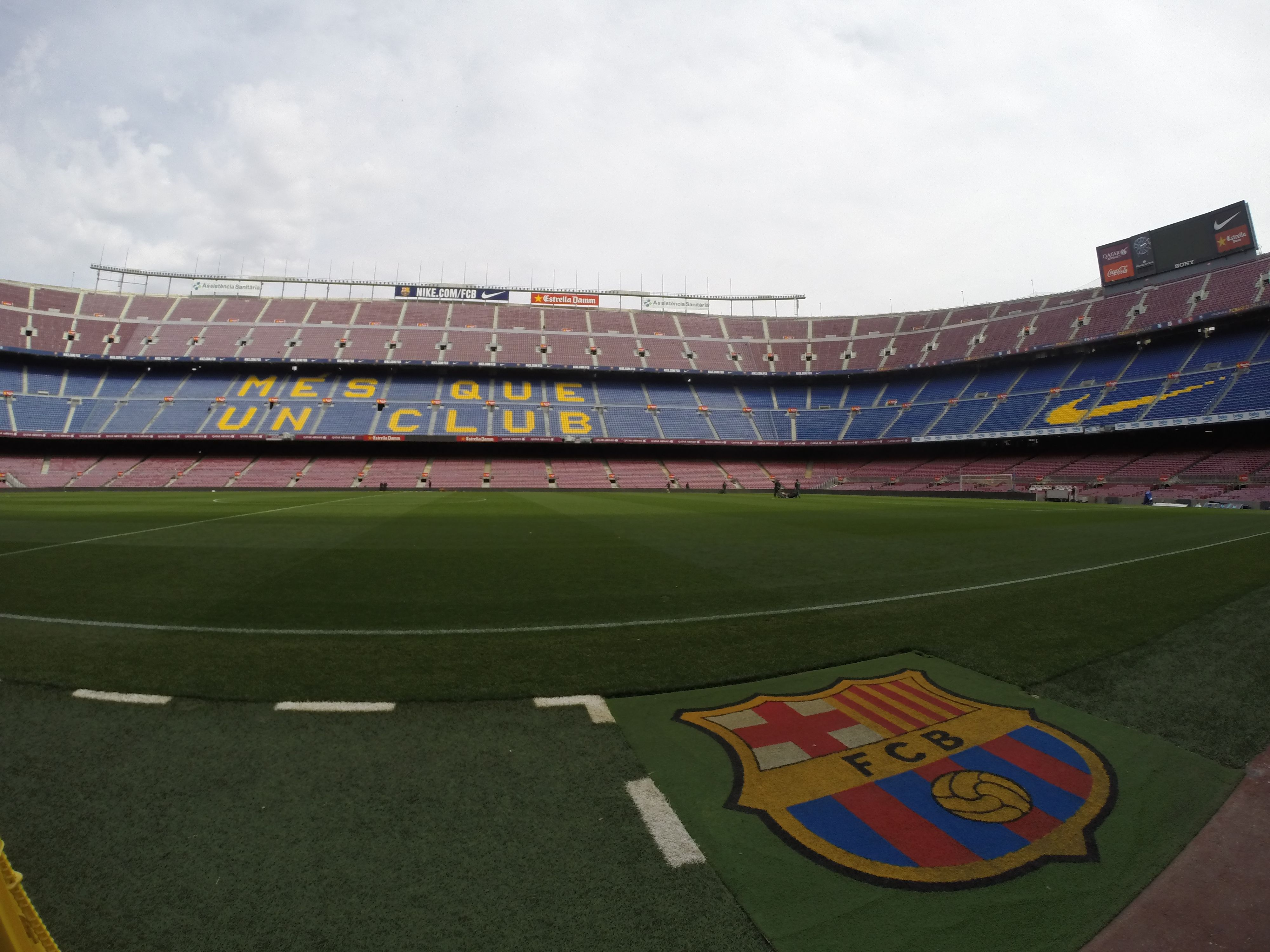On the field at Camp Nou FCB
