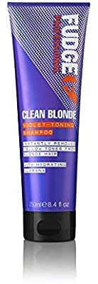 Fudge Professional Purple Toning Shampoo, Original Clean Blonde Shampoo, For Blonde Hair, 250 ml