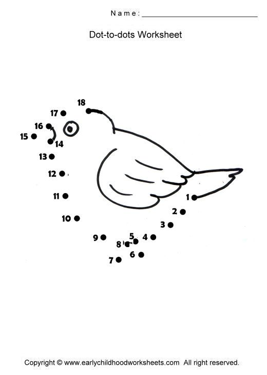 preschool bird math worksheets | Download free printable birds dot ...