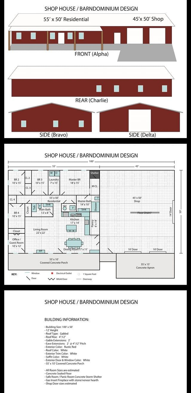 Pin By Tori Trost On Home Barn Homes Floor Plans Pole Barn House Plans Barndominium Floor Plans