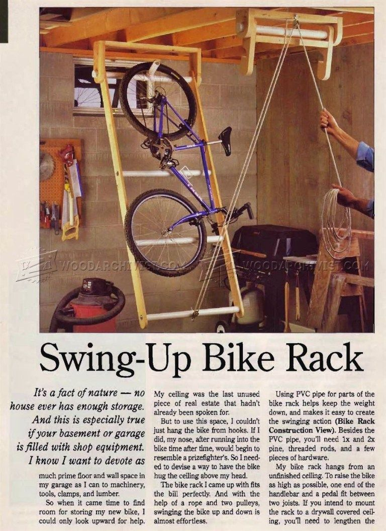Swing Up Bike Rack A Website For All The Ideas You Will Ever Need Bike Storage Garage Bicycle Storage Garage Diy Garage Storage
