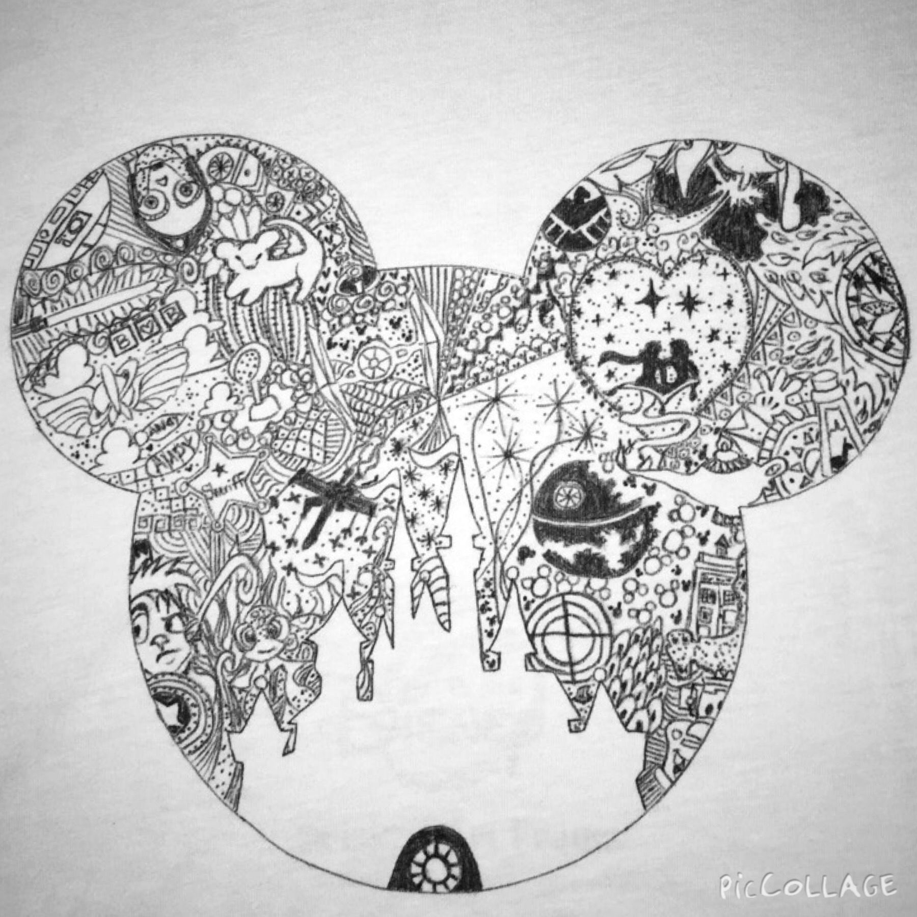 Disney Zentangles Drawing Disney coloring pages