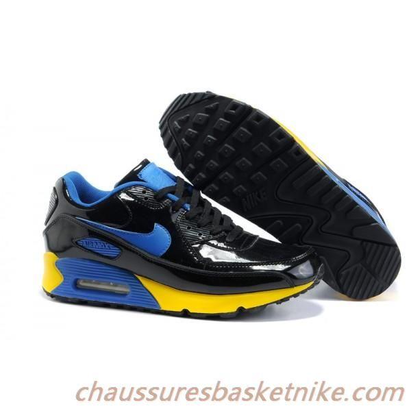 code promo 12676 d8e93 Nike Air Max 90 Hommes-Chaussures Noir / Jaune / Vert ...