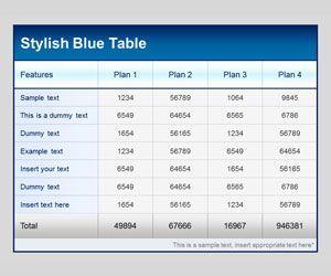 microsoft table templates