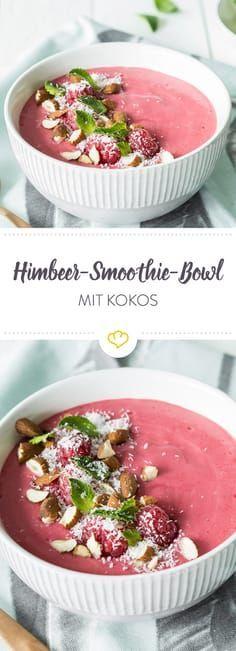 Dein Schüsselglück: Himbeer-Kokos-Smoothie-Bowl  - Frühstück für Kleinkinder & Kinder -
