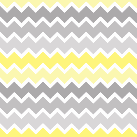 Yellow grey gray ombre chevron zigzag pattern fabric by decamp studios on spoonflower custom fabric