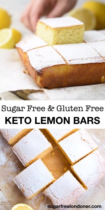 Keto Zitronenriegel   – Recipes from The Sugar Free Londoner