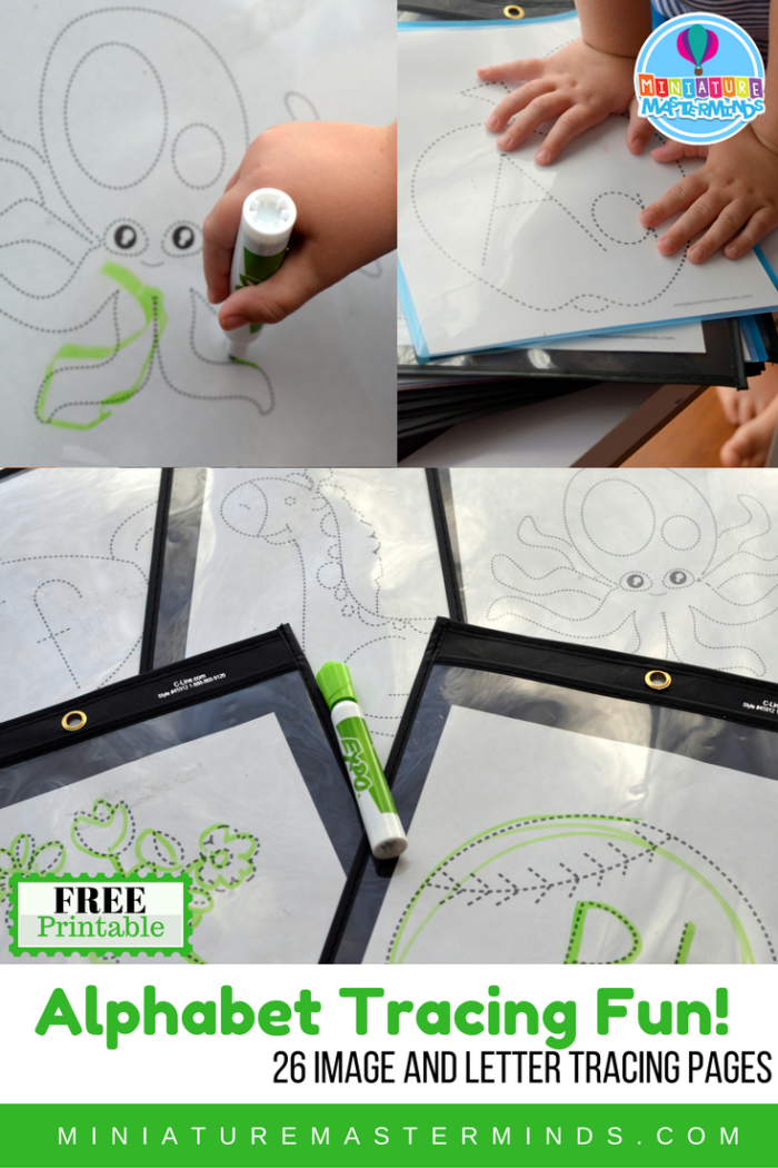 Alphabet Tracing Fun 26 Image And Letter Tracing Pages Alphabet Tracing Tracing Letters Alphabet Tracing Printables