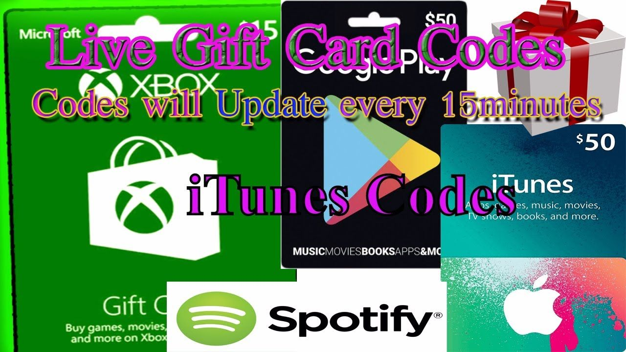 Free itunes codes giveaway