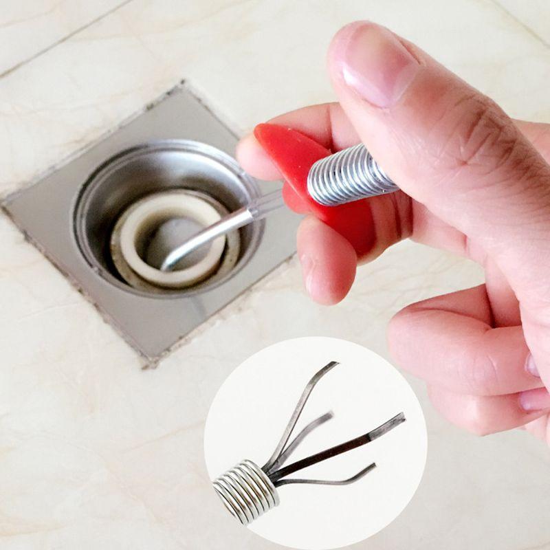 hand press type toilet drain cleaner