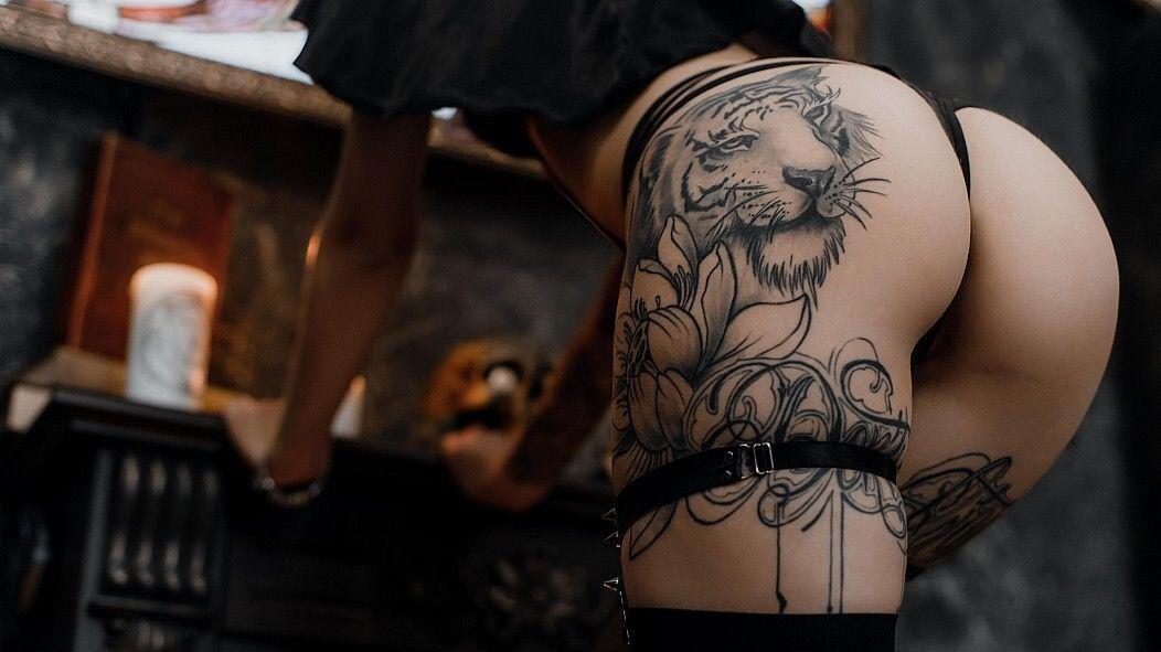 Tattoo Motorcycle Biker Girl Stock Photo Footage
