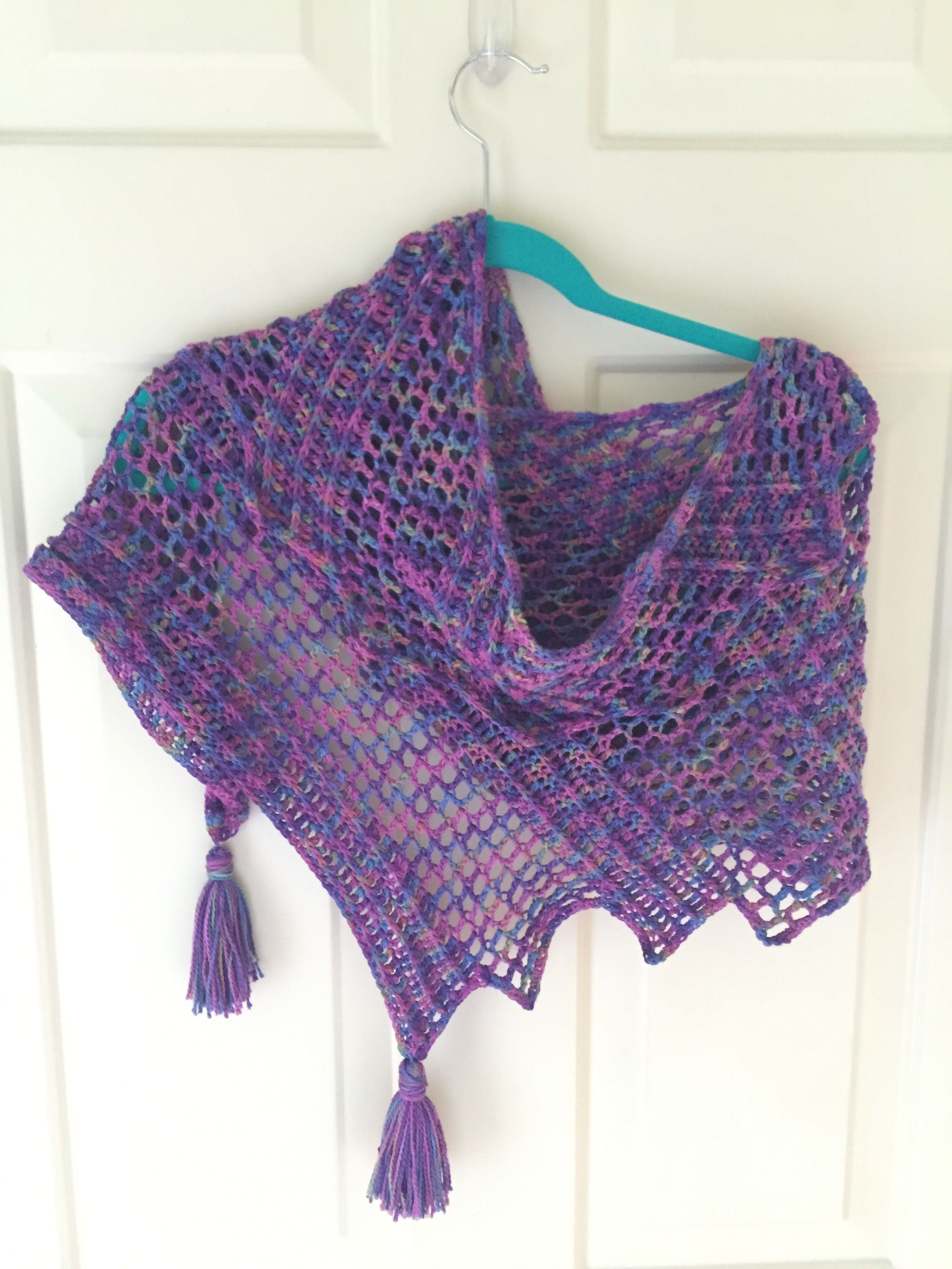 I loved the finished Good Thoughts Shawl so much, I decided to make ...