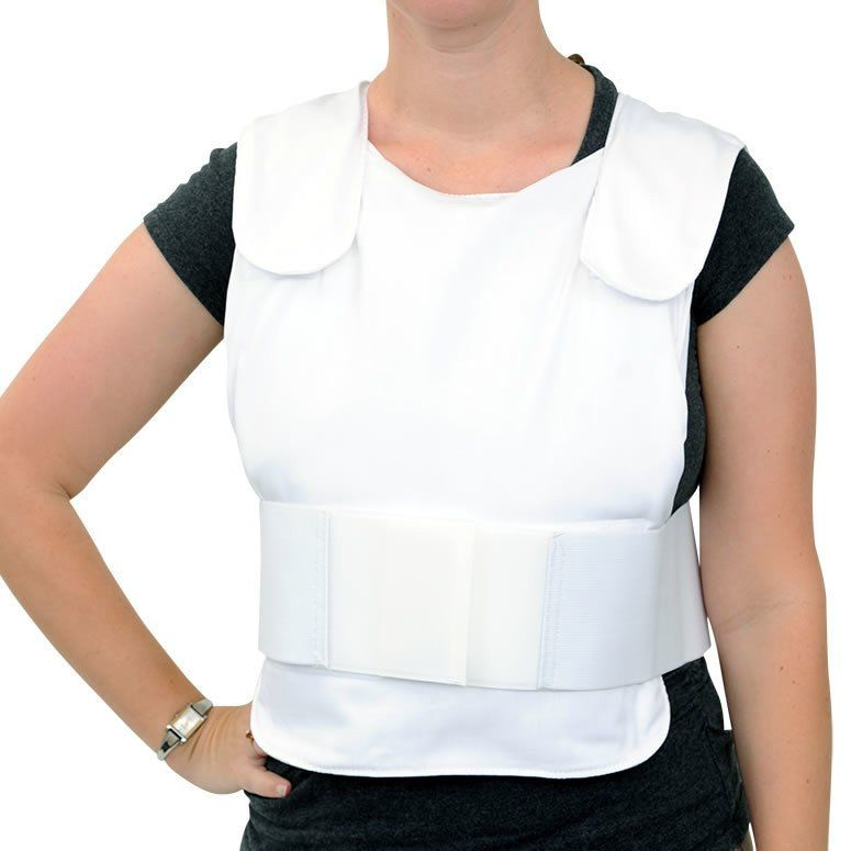 Glacier Tek Concealable Cool Vest White Includes Glacierpack