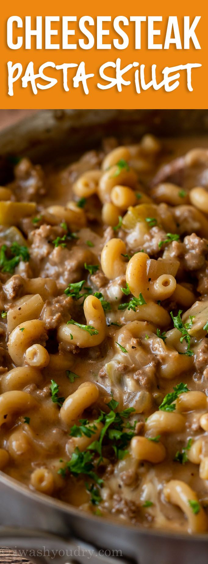 Philly Cheesesteak Pasta Skillet images