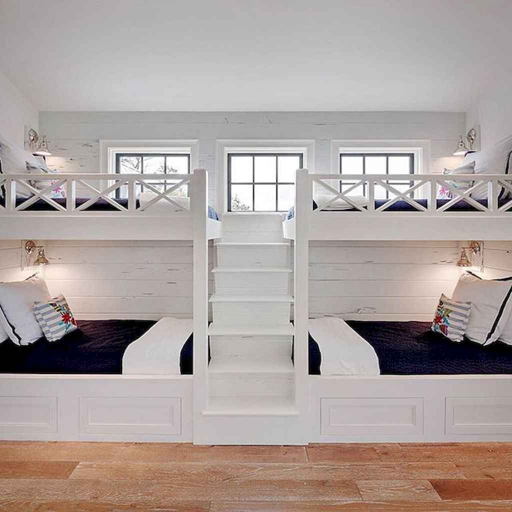 Gorgeous 55 Modern Lake House Bedroom Ideas Https Domakeover Com 55 Modern Lake House Bedroom Ideas Bunk Beds Built In Bunk Bed Rooms Lakehouse Bedroom