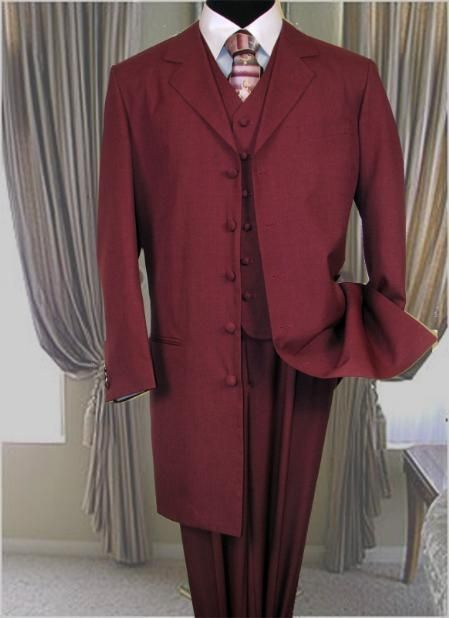 SKU# BLJ324 6498 Burgundy ~ Maroon ~ Wine Color FASHION ZOOT SUIT ...