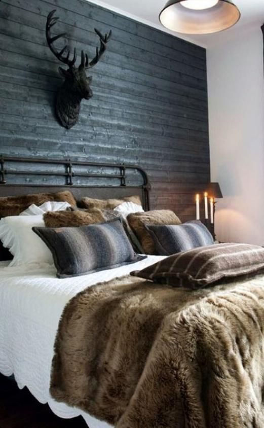 53 Masculine Modern And Classic Men Bedrooms Ideas Brown Bedroom Decor, Men  Bedroom, Rustic