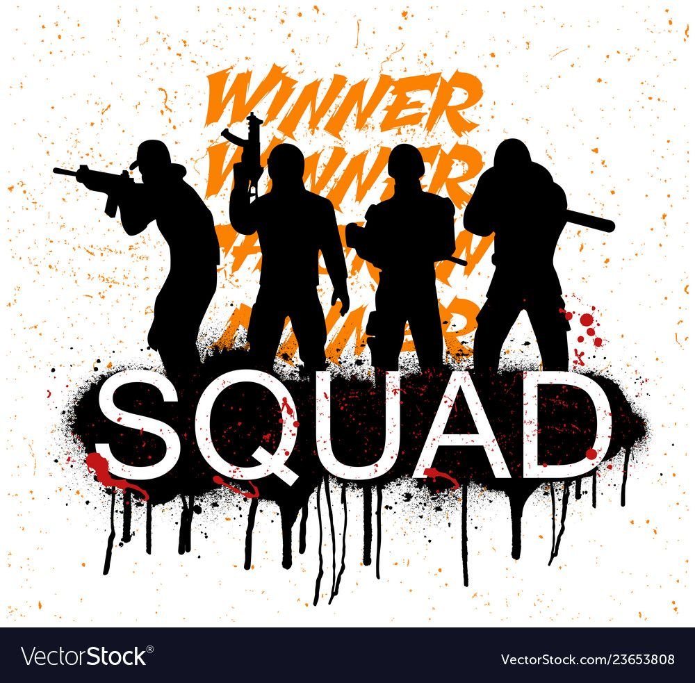 A Squad Of 4 Player Pubg Vector Image On Vectorstock Gaming Wallpapers Game Wallpaper Iphone Gaming Wallpapers Hd