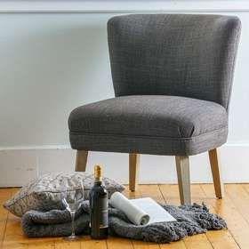 inkgrid bedroom chairs elsa grey color fabric small bedroom chair rh pinterest com