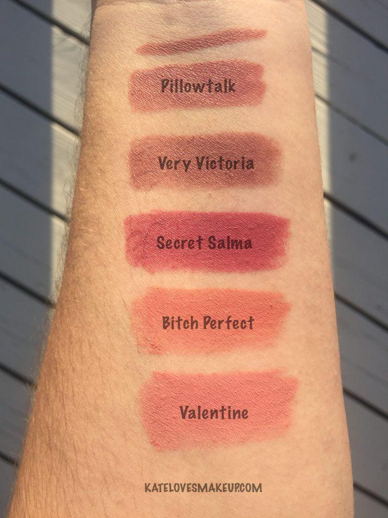 Charlotte Tilbury Pillow Talk Lipstick Makeup Swatches