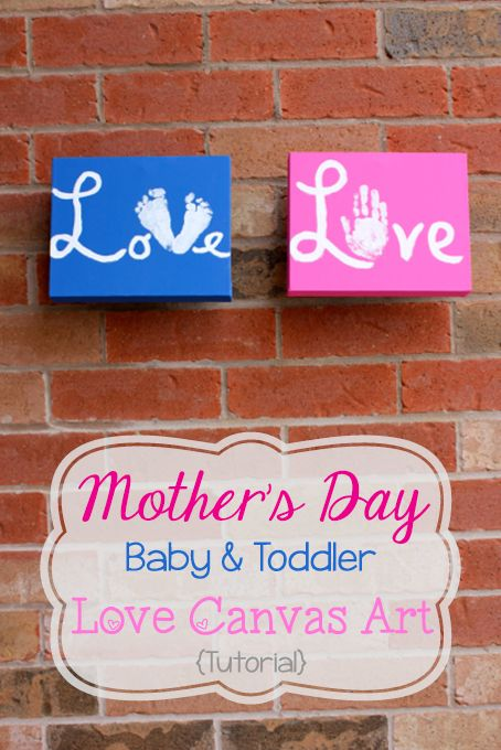 Mother's Day Canvas of Love {Tutorial} • The Inspired Home