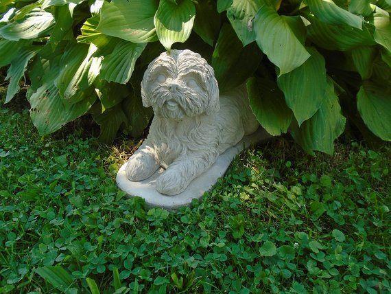 Shih Tzu Concrete Statue Breed Specific Memorial Yard 400 x 300