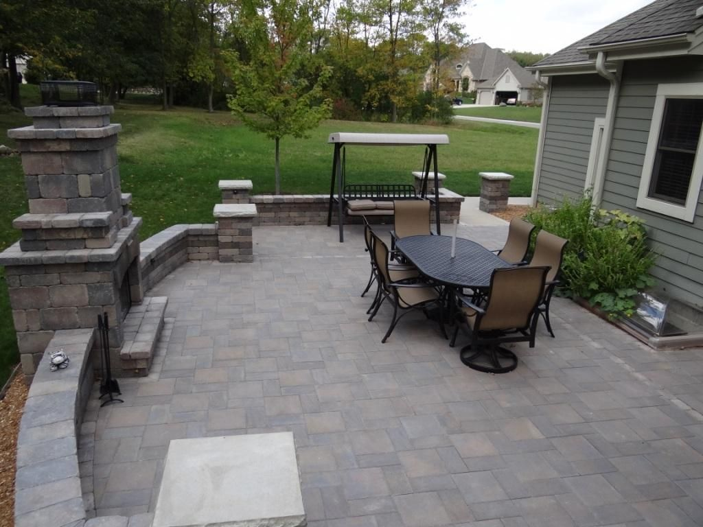 backyard ideas. short wall around patio and a fireplace | house ... - Patio Walls Ideas
